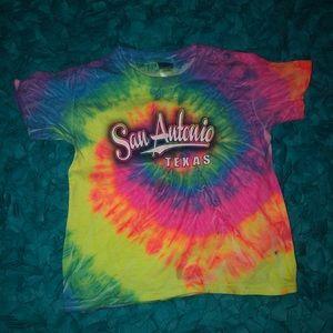 San Antonio Tie-Dye Rainbow Youth XS T-Shirt!